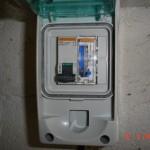 coffret de contrôle électrique de la micro-station